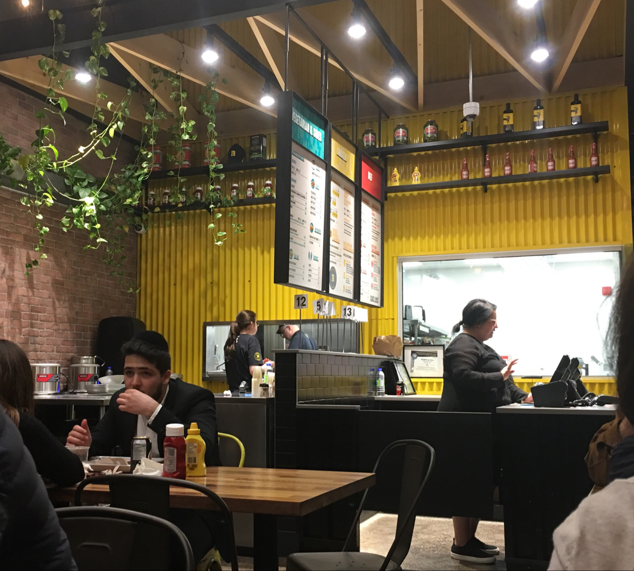 Interior of restaurant - June 2019
